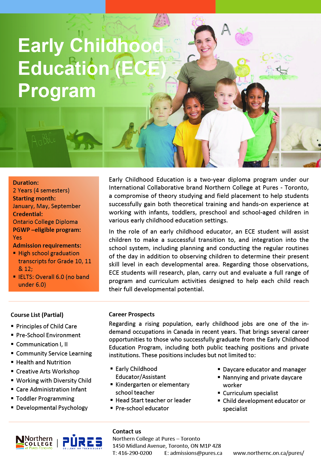 Northern-College-Toronto-Pures-Campus-Program-Flyers-Updated-July-2020_Early Childhood Education